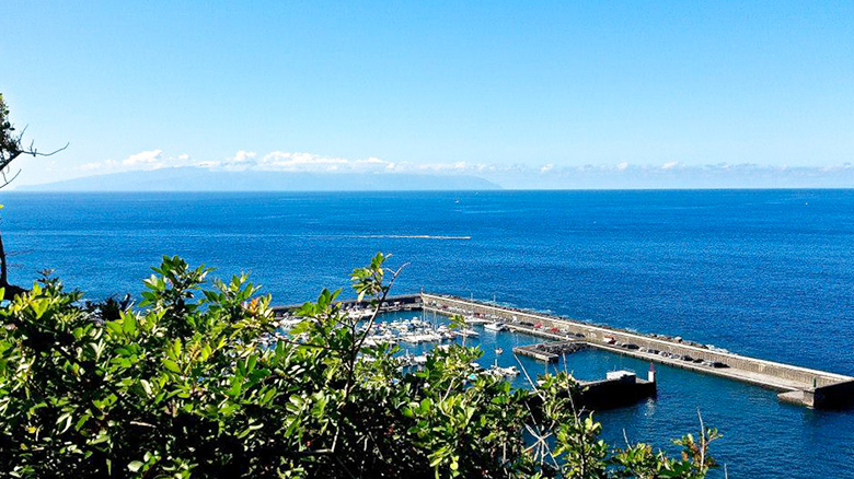 The harbour or Los Gigantes in Tenerife, where you can do nautical activities.