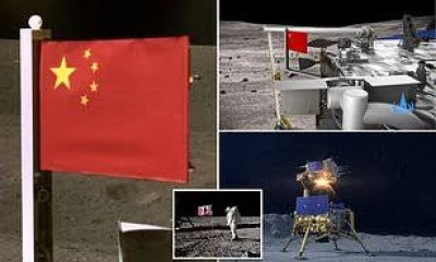 China became the second country in the world to fly a flag on the moon