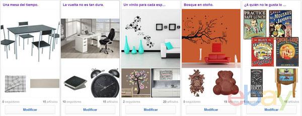 Colecciones eBay de DecoraDecora.es