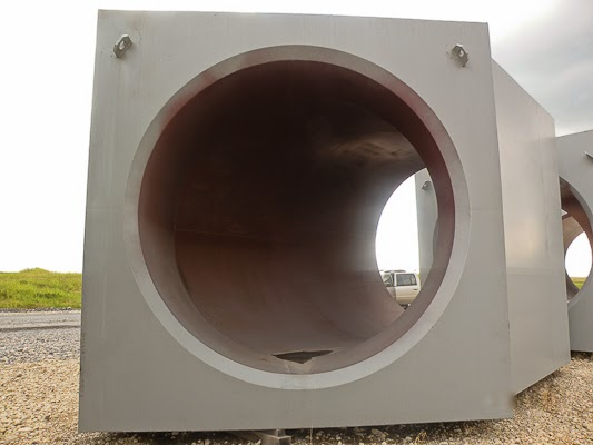 The smooth surface and one-piece construction of dust evacuation system ductwork reduces problems due to erosion or corrosion.