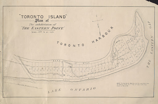 1880 Toronto Island, Plan of the subdivision of The Eastern Point r-49