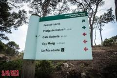 Señalética del EIN Castell-Cap Roig