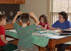 Mar, 2007 - Counter clockwise: Grandma Blair, Isabella, Connor and Colden