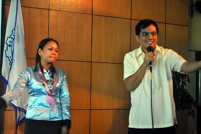 Sir Jojo Esposa Jr. acknowledges guests together with Ma'am Edda Alves