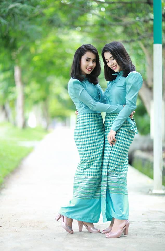 Myanmar Cotton Dress oneset design pic