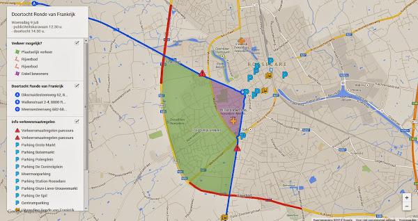 passage Ronde van Frankrijk door Roeselare, 9 juli 2014