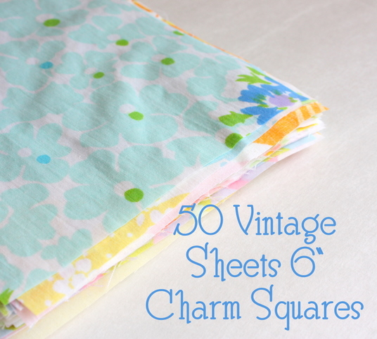 Vintage Sheet Destash Diary Of A Quilter A Quilt Blog