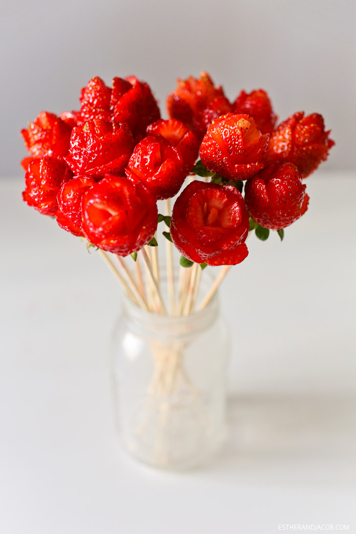 How to make strawberry roses / Edible Creations.