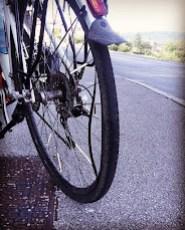 Simon's broken rim... first complete failure of the bike.