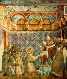Giotto, confermazione della regola
