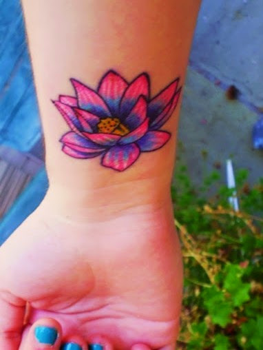 lotus wrist tattoos