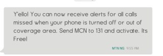 How To Know Who Called You When Your Phone Was Off On MTN Nigeria 2