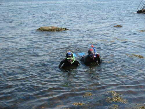 All dykning sker i par och erfaren med oerfaren