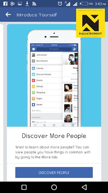 "Facebook Introduces New ""Discover People"" Menu 1"