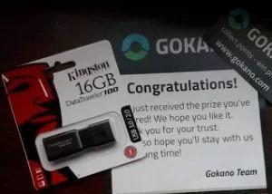 gokano free pen drive shipped