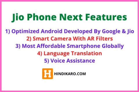 Jio Phone Next Features