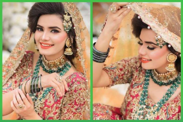 Actress Kiran Haq New Colorful Bridal Photo Shoot