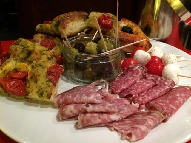 Selection of aperitivo snacks - Copperhead gin tasting