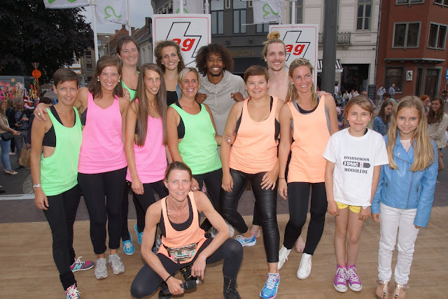 Dansschool Hooglede met Malik en Morgane op de foto