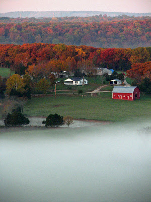 Farm across the river