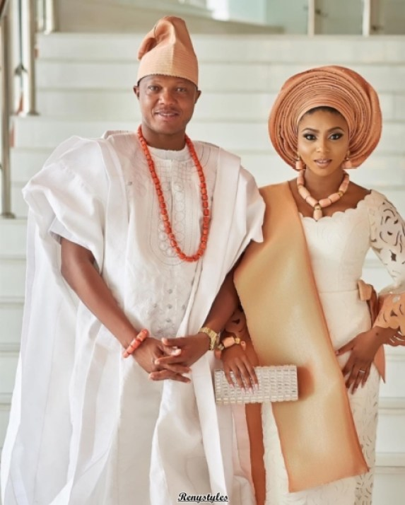 Wedding guests aso-ebi styles Stephanie Coker and Olamide