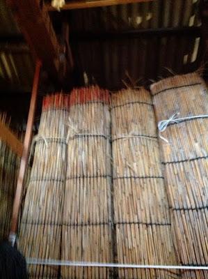 伝統的な玉露や抹茶の覆いで使われる、よしずの作り方 - 18