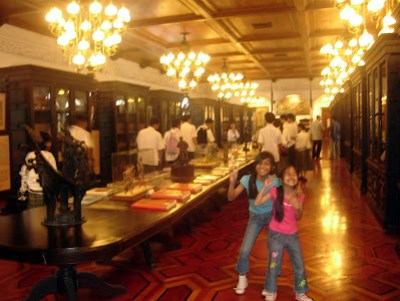 March 12: The former Main Dining Hall of the palace is now used as museum of various memorabilias of past Philippine presidents.