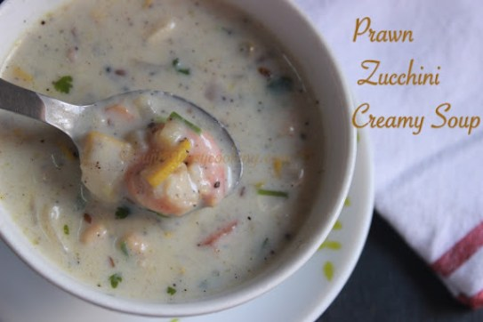 Prawn Zucchini Creamy Soup2