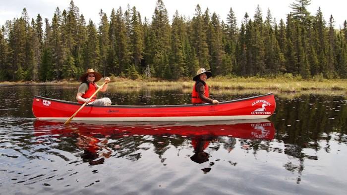 Aaron and I on a canoe