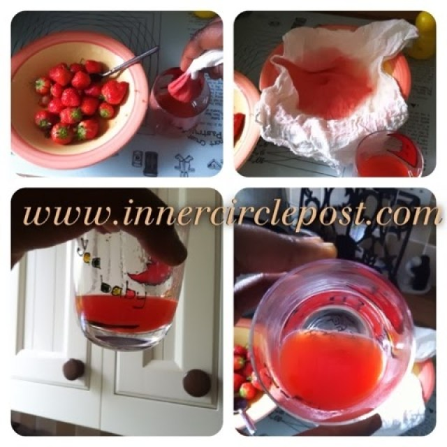juicing strawberries for a baby
