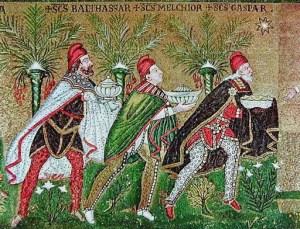 Magi, Basilica di Sant'Apollinare in Classe, Ravenna, prima metà del VI secolo. (fonte web)