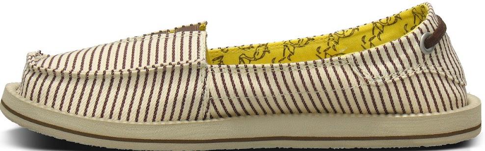 *Sanuk 春風直條紋懶人鞋:幸福的送子鳥與女孩們打招呼喔! 2