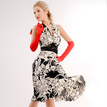 Marilyn, flower pattern dress, black & white.jpg