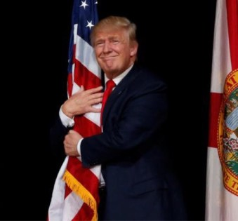 Image result for trump american flag
