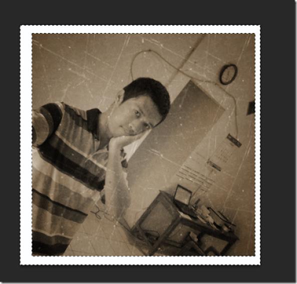 trik membuat efek foto jadul lama yang sudah rusak