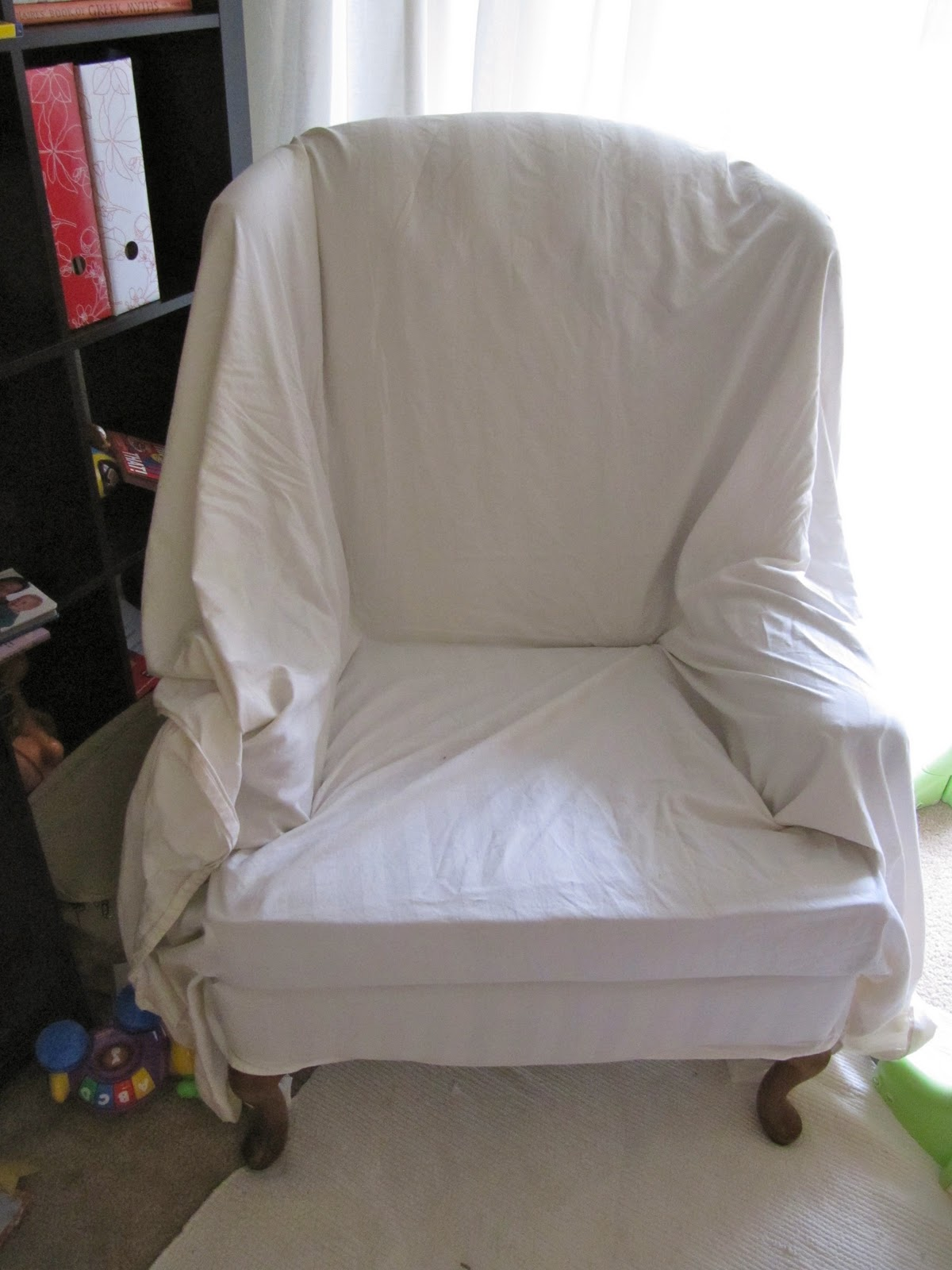 Picture of: Make A Slipcover In 5 Minutes Honeybear Lane