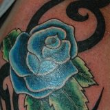 trendy blue rose tattoo designs 2015
