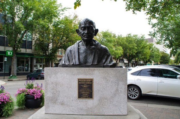 Ghandi in downtown Saskatoon