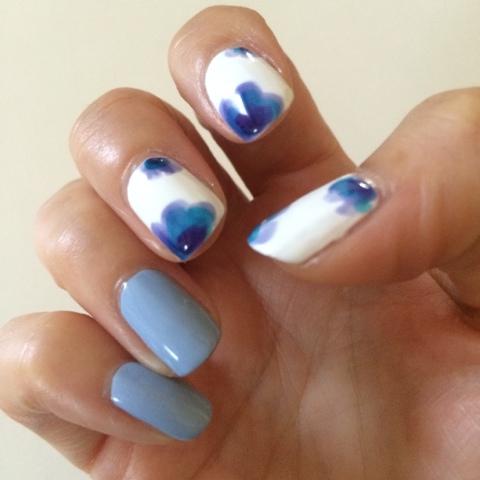 Essie Silk Watercolor Nail Art Ideas