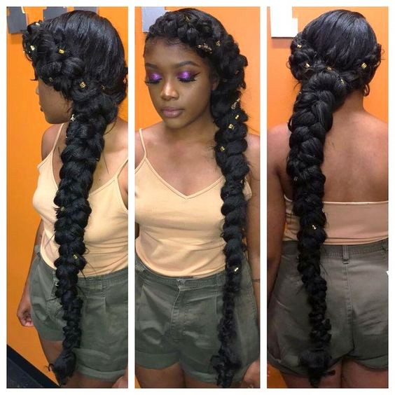 2018  Braids Hairstyles with Beads For Black Women's 3