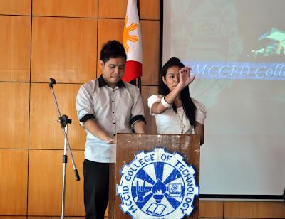 Nathan Natan Tolentino Cocharo and Regine Grace Buenaventura, this year's hosts
