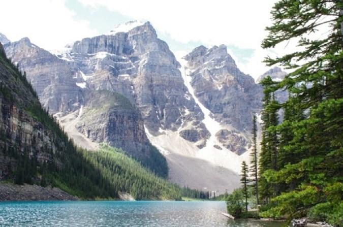 Moraine Lake in Alberta's Banff National Park