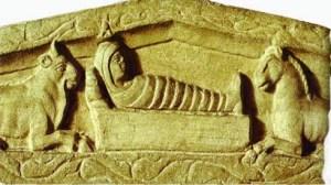 Presepe del Sarcofago di Stilicone, IV° sec., Milano, Basilica Ambrosiana.