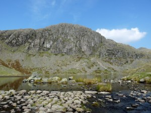 Stickle Tarn & Pavey Ark with Jacks Rake (running approx from bottom right to top left)