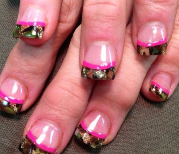 THE BEST CAMOUFLAGE NAIL DESIGNS FOR PRETTY WOMEN 2