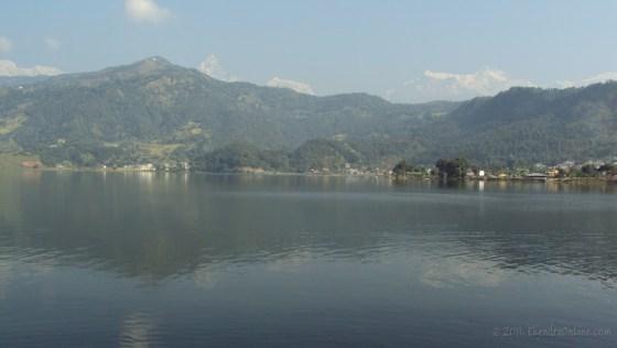Another view: Fewa lake and Fishtail range