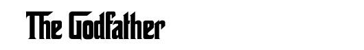The Godfather font logo Poderoso Chefão