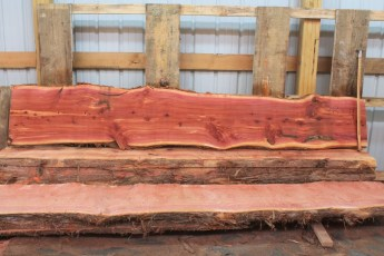 "Cedar 282-4  Length 10' 6"" Max Width (inches) 21 Min Width (inches) 16 Thickness 6/4  Notes : Kiln Dried"