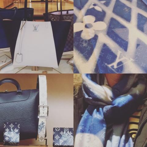 Bindetechnik für große, viereckige Tücher z.B. Louis Vuitton Monogram-Schal