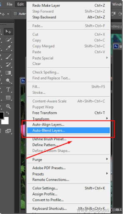 tutorial efek membuat blending mode options